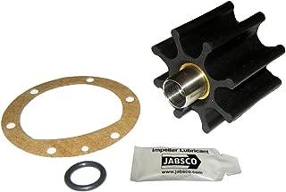 Jabsco 6056-0003-P, Nitrile, Drive Type 6, 8 Blade, 2-9/16 Diameter, 2 Width, 5/8 Shaft, Brass Insert