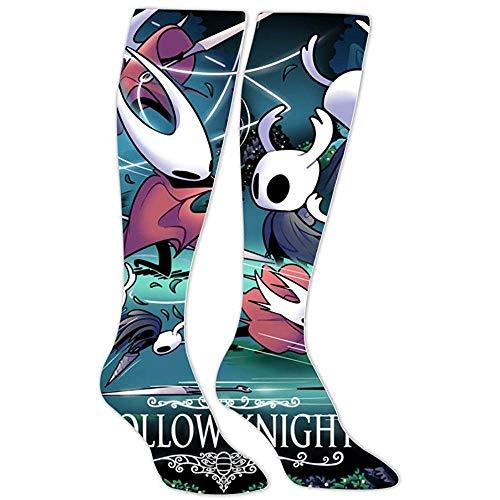 yantaiyu-sock Calcetines De Skate Calcetines Deportivos Grim-M Fight Ho-Llow Knight Calcetines Hasta La Rodilla Estampados En 3D Unisex Calcetines Deportivos De Algodón
