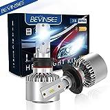 Bevinsee H7 LED Headlights White Bulbs Kit 10000LM 6000K 60W,2pcs