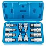 Satra S-SH1212 - Juego de llaves de vaso hexagonales (5-22 mm, 1/2, para Allen)
