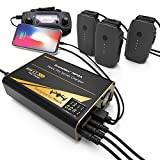 Energen - EN-DM-MP18A DroneMax MP18A Drone Battery Charger, DJI Mavic Pro Accessories, Intelligent Fast Multi Battery Charging Hub Station (Charge 3 Batteries & 2 USB Ports Simultaneously) Black