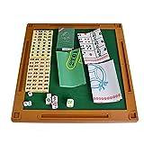 ChengBeautiful Mini Mahjong 144 fichas de Mahjong Juego Set portátil Mini Mahjong Mahjong con Plegable Juego Chino Juego de Mesa (Color, Size : 18x13x8mm)