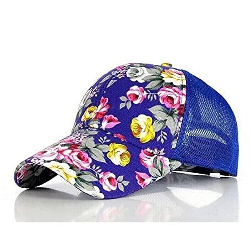 WAZHX Gorras De Béisbol con Estampado Floral Flores Hip Hop Gorras Snapback Moda Mujer Ocio Gorras De Malla Transpirable De Hueso Plano 5