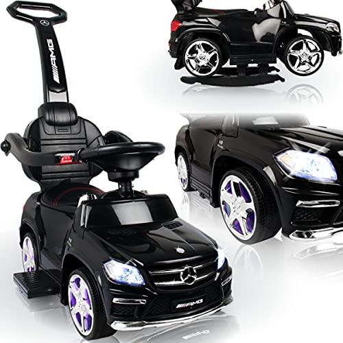 Stimo Mercedes Benz AMG Rutschauto (offiziell lizenziert) mit Wippfunktion und MP3 Player Kinder Fahrzeug Rutscher Auto (AMG GL63 SCHWARZ)