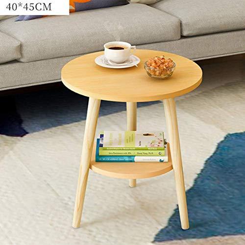 Rright! MDF Round Side/Kaffee/Esszimmer/Lampe/Beistelltisch Massivholz Beine,A