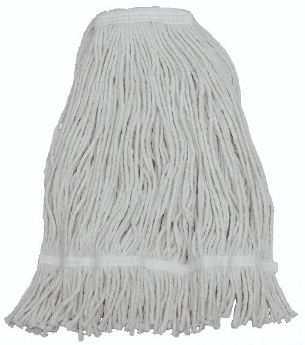 Zephyr 15024 Shineup 4-ply Cotton 24oz Wide Spread Cut End Wet Mop Head with Fantail (Pack of 12)