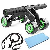 JuguHoovi AB Roller Abdominal Trainer, Abdominal Roller AB-Wheel Abdominal Trainer, Juego de...