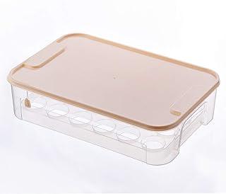 HHQSC Plastic crisper box Egg storage box with lid, stackable plastic crisper, portable food grade crisper, kitchen storag...