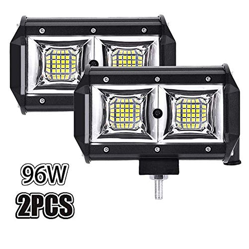 WZTO LED Arbeitsscheinwerfer 5 Inch 96W Cree LED Zusatzscheinwerfer 10000LM Auto Scheinwerfer Offroad Flutlicht Wasserdicht IP68 Arbeitslicht 12V 24V (2 Stück)