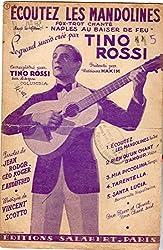 Écoutez les mandolines du film Naples au baiser de feu - Tino Rossi - Éditions Salabert - partition