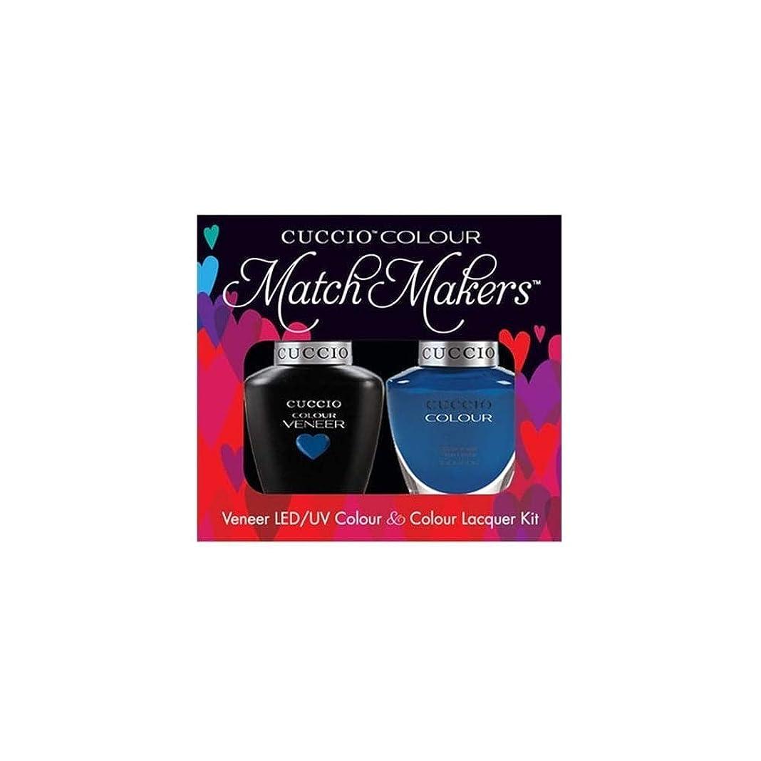 成功する入場力強いCuccio MatchMakers Veneer & Lacquer - Got the Navy Blues - 0.43oz / 13ml Each