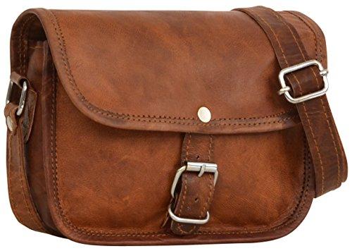 Gusti Handtasche Leder - Nature Handtasche Mary XS kleine Lederhandtasche Umhängetasche Vintage Look Braun Old School Damen