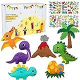 Dinosaurio fieltro Kit de costura para niños - dinosaurio fieltro animal de DIY artesanía para niños y niñas, coser su propio dinosaurio, kits educativos de artesanía de costura para principiantes