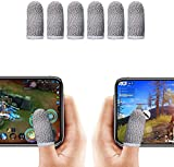 Finger Sleeve, Breathable Mobile Game Controller Finger Sleeve Touch Screen Finger Cot with Conducting Wire Fiber for PUBG Mobile, Rules of Survival, for Android iOS Tablet (4 Pack)