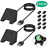 [2 Pack] Charger Cable for Garmin Watch, 3.3FT USB Charging Cord Charger Dock for Garmin Vivoactive 4/Vivoactive 4S/GarminMove Style/Vivoactive 3/Fenix 5 5S 5X/Fenix 6 6S 6X/Forerunner 945/935/245/45