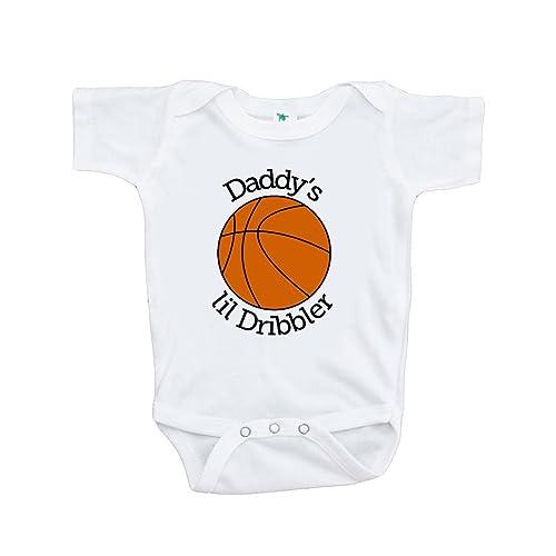 9b434e6c854b 7 ate 9 Apparel Baby Boy s Daddy s Lil Dribbler Basketball Onepiece