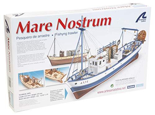 Artesanía Latina 20100N. Maqueta de Barco en Madera Pesquero Mare Nostrum 1/35