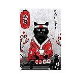 xingyao Poster Janpanese Sushi Cat Kunstdruck auf Leinwand