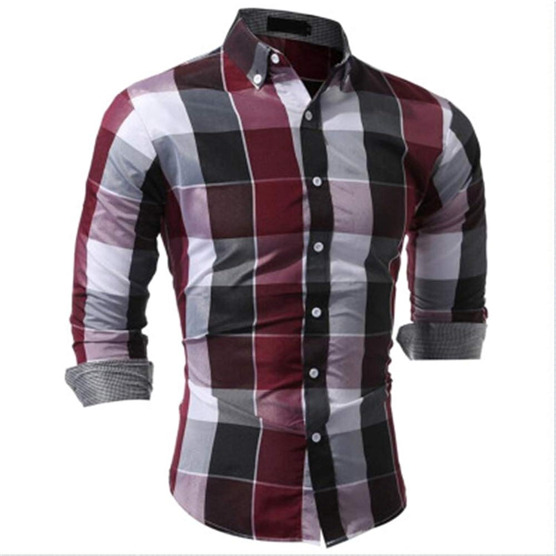 - Super frist frist frist Men's Regular-Fit Long-Sleeve Plaid Shirt 065164