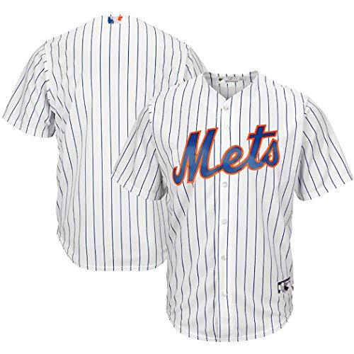 Herren Mets Baseball Trikot, Nr. 3 Granderson Supporter Shirt, perfektes individuelles Geschenk für Männer, Frauen und Kinder-White-M
