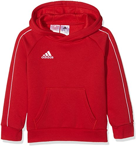 Adidas Core18 Hoody Sudadera con Capucha, Unisex Niños, Rojo (Power Red/White), 7-8 años (Talla del Fabricante: 128)