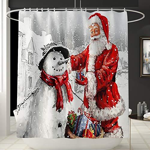 XIEPEI New Carpet Weihnachtsdekoration Teppich Vierteilige Toilettensitzbezug Bodenmatte Badezimmer Matte Set
