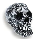 FLJZCZM Skull Statue Decor Head Statues Sugar Skulls Sculpture Day of The Dead 7.05inch Grey