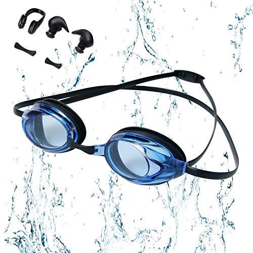 PUPOUSE Gafas Natación Ajustable Antiniebla