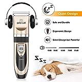Oneisall Haustier Grooming Clipper Kits Geräuscharmer Haarschneidemaschine Hund und Katze wiederaufladbare drahtlose elektrische leise Tierhaarschneider - 4