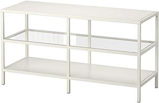 IKEA ASIA VITTSJO - Banco de TV, Color Blanco, Cristal