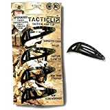 Tactical Hair Clips, 4 Pack - Multitool Snap Barrettes - Stainless Steel Multi-Functional Keychain Multi Tool - Box Cutter, Serrated Edge, Raptor Claw - Kippah clips