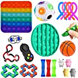 YAJ 21 Pack Sensory Fidget Toys Set, Fidget Toys Juguetes para La Ansiedad Juguetes Los Dedos DescompresióN Sensorial Alivio del EstréS Y Juguetes contra La Ansiedad para Adultos