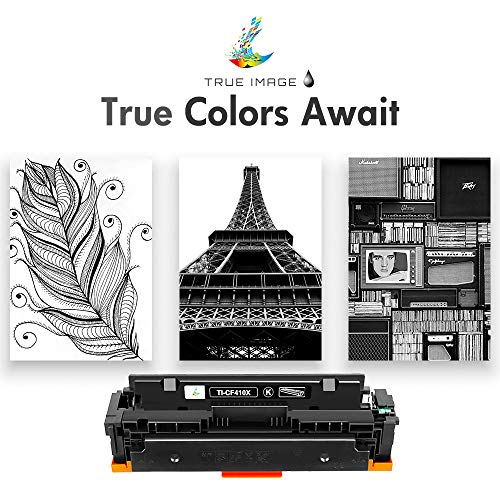 True Image Compatible Toner Cartridge Replacement for HP 410X CF410X CF410A 410A M477 M452 Laserjet Pro MFP M477fdw M477fnw M452dw M477fdn M452nw M452dn M377dw (Black, 1-Pack) Photo #4