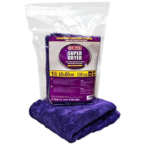 Mafra, Super Dryer, Panno in Microfibra Superfine, ad Alto Grado di Assorbimento e Resistenza, nel Maxi Formato da 60x80cm