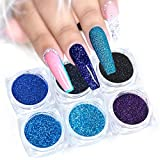 Polvo de uñas,Nail Art Acrílico Powder Sparkles Flake Shining Nail Glitter Set Manicure Gel Polish Pigment-G