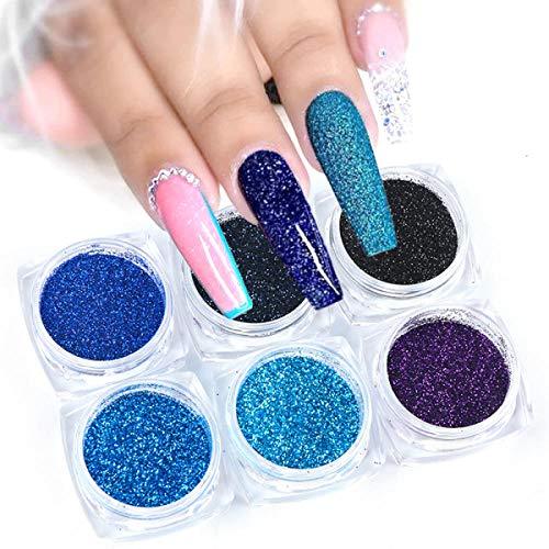 Poudre à ongles,Acrylique Nail Art Poudre Sparkles Flocon Brillant Nail Glitter Set Manucure Gel Polonais Pigment-G