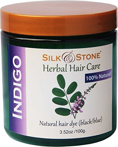 Silk & Stone 100% Pure Indigo Powder (Indigofera Tinctoria)- 100g. Natural Blue/black Hair Dye Guaranteed