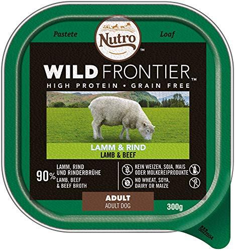 Nutro Hundefutter Nassfutter Wild Frontier Adult 1+ Lamm & Rind, 20 Schalen (20 x 300g)