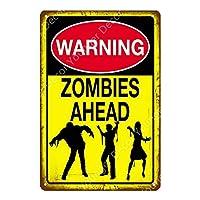警告ゾンビの危険に注意してください金属の錫の看板を避けてくださいヴィンテージポスター壁アート絵画プラークバーパブクラブ家の装飾-20x30cm