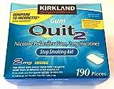 Kirkland Signature Quit Smoking Gum, 2 mg, 190 Count