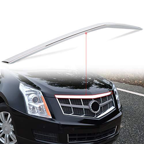 ECOTRIC Hood Molding Trim Moulding Chrome Fits 2010-2016 Cadillac SRX (submodel: Base, Luxury, Performance, Premium) - Replace # 22774203 GM1235120