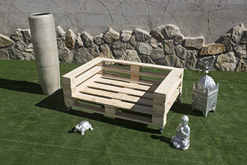 Sofa con PALETS Europeos con Ruedas Nuevo A ESTRENAR,Interior/Exterior AL Natural