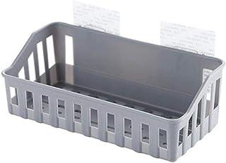 de bain Support d'angle de salle pour salle de bain Support de rangement Multifonction En Plastique Salle De Bains Panier ...