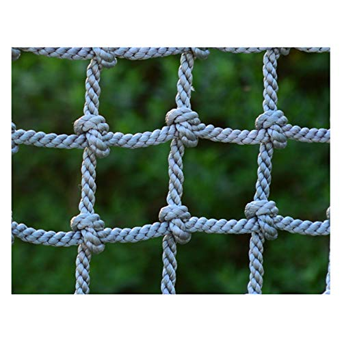 FXPCYGZ Kletternetz Schutznetz, Draussen Kinder Kletternetz Schutz-Sicherheitsnetz Balkon Geländer Treppe Zaun Anti-Fall-Netz Schwerlast Dickes Seil 8mm Schaukelleiter Net(3 * 4m(10 * 13ft))