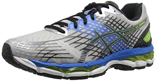 ASICS Men's Gel-Nimbus 17 Running Shoe,Lightning/Black/Flash Yellow,8 M US