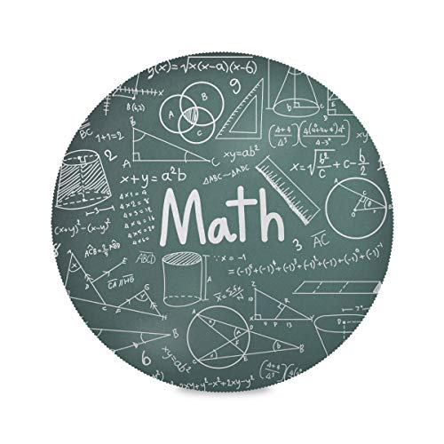 Lot de 4 Sets de Table Ronds imprimés Math Education Complicated Mathematical Genius Work Place Mats Mat for Dining Table 15.4 inch Easy to Clean for Kitchen Dining Table Holiday Party