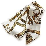 [ジュエルボックス] JewelVOX スカーフ ネックレス 76種類デザイン サテン生地 スカーフ 【ベルト柄1】 C
