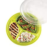 Portion Control Lunch Travel Plate (Assorted Colors) (Set of 3)