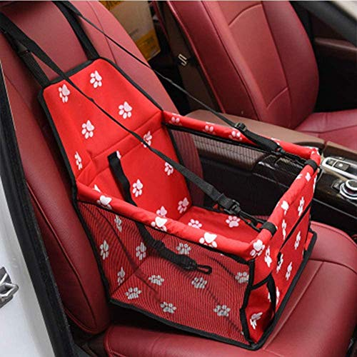 CJCJ-LOVE Pet Car Booster Seat Travel Carrier Cage Oxford Breathable Folding Soft Washable Travel Bags for Dogs Cats or Other Small Pet D-D