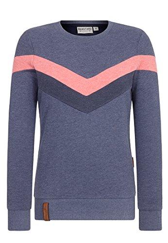 Naketano Damen Immer diese satzbau Sweatshirt blau L